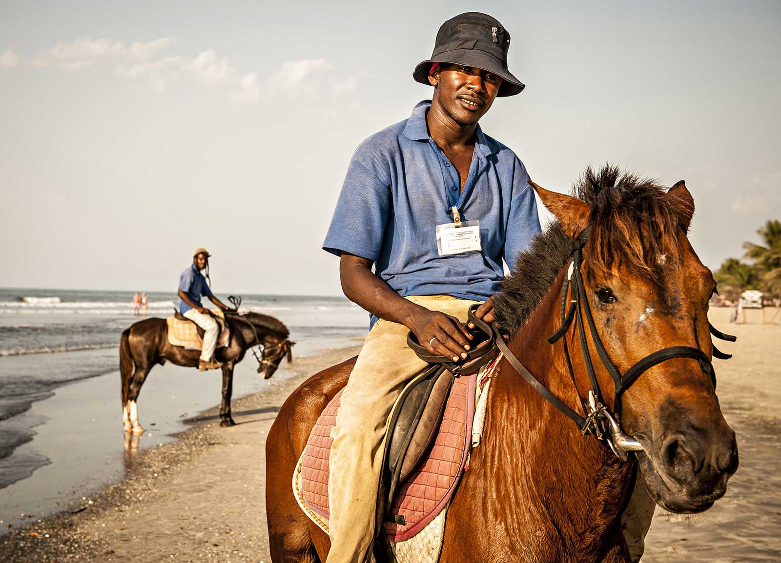 Gambia horse policeman