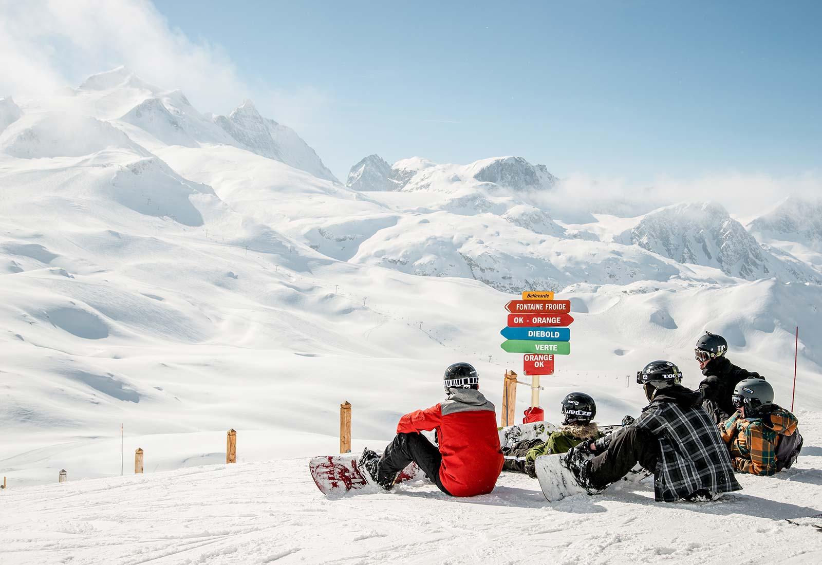 Tignes snowboarding
