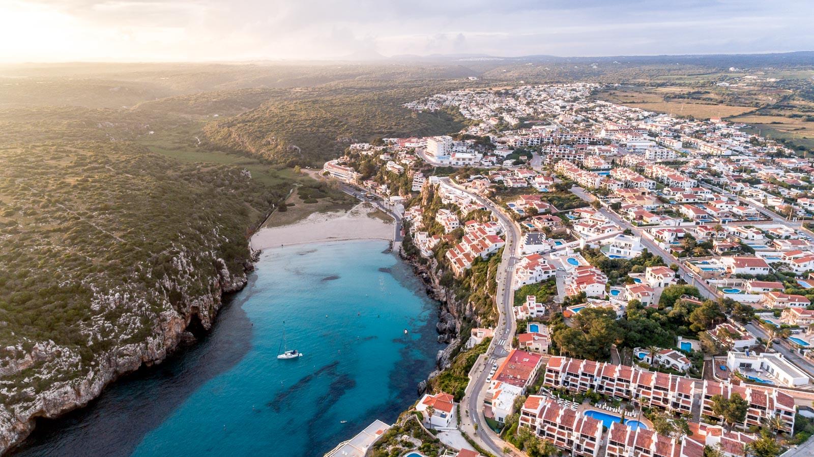 Menorca Aerial Sunset