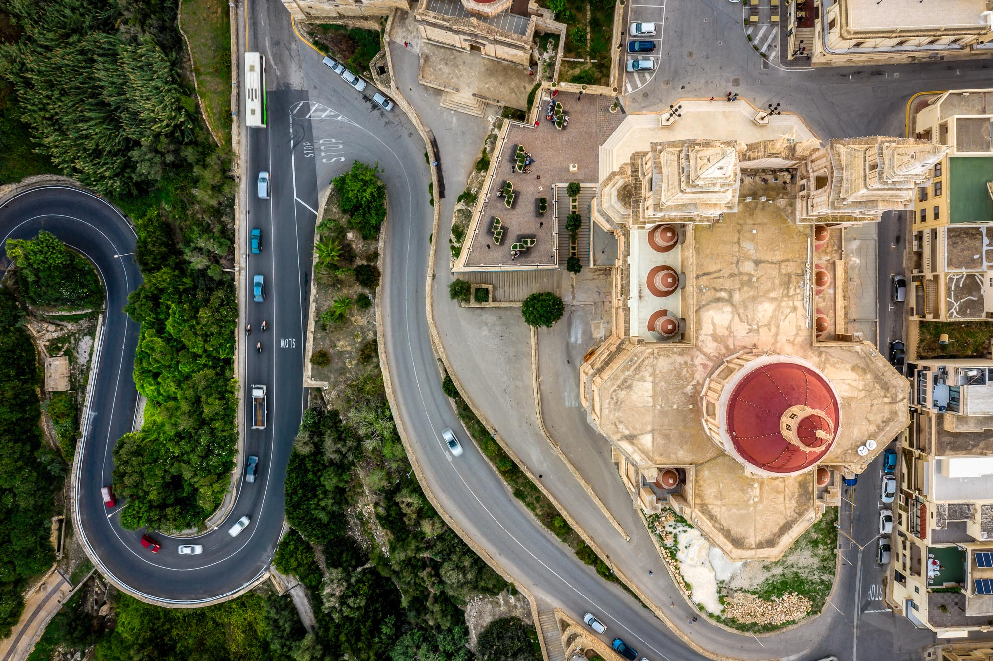 Malta Aerial Church